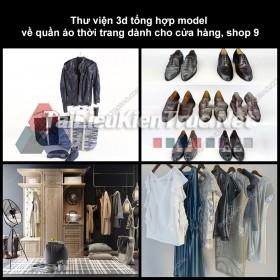 Thư viện 3D tổng hợp Model về quần áo thời trang dành cho cửa hàng, shop 9