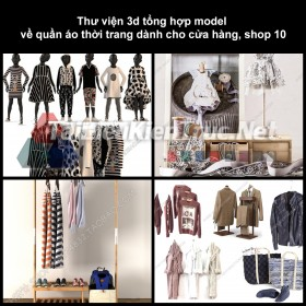 Thư viện 3D tổng hợp Model về quần áo thời trang dành cho cửa hàng, shop 10