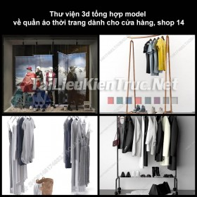 Thư viện 3D tổng hợp Model về quần áo thời trang dành cho cửa hàng, shop 14