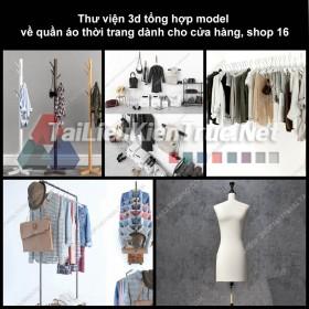 Thư viện 3D tổng hợp Model về quần áo thời trang dành cho cửa hàng, shop 16