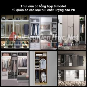 Thư viện 3d tổng hợp 6 model tủ quần áo các loại full chất lượng cao p8