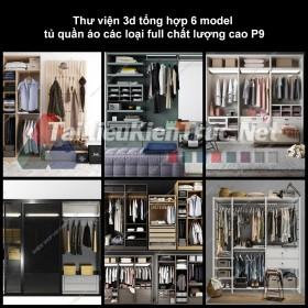 Thư viện 3d tổng hợp 6 model tủ quần áo các loại full chất lượng cao p9