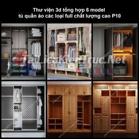 Thư viện 3d tổng hợp 6 model tủ quần áo các loại full chất lượng cao p10