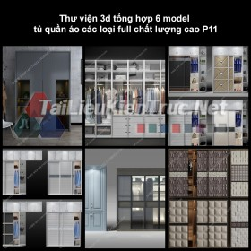 Thư viện 3d tổng hợp 6 model tủ quần áo các loại full chất lượng cao p11