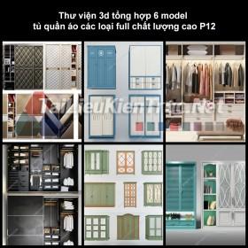 Thư viện 3d tổng hợp 6 model tủ quần áo các loại full chất lượng cao p12