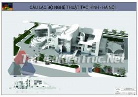 Đồ án tốt nghiệp KTS - Câu lạc bộ nghệ thuật tạo hình Hà Nội