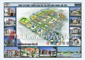 Đồ án tốt nghiệp KTS Quy hoạch đầu tư phát triển khu đô thị mới Vân Canh- Hà Tây