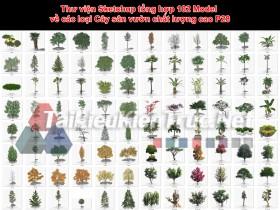 Thư viện Sketchup tổng hợp 102 Model về các loại Cây sân vườn chất lượng cao P28