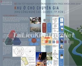 Đồ án tốt nghiệp KTS - Khu ở cho chuyên gia Công nghệ cao HCM