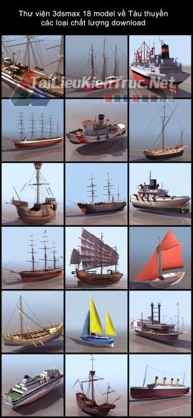 Thư viện 3dsmax về Tàu thuyền các loại chất lượng download