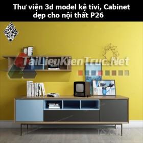 Thư viện 3d model Kệ tivi, Cabinet đẹp cho nội thất P26