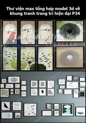Thư viện max tổng hợp model 3d về Khung tranh trang trí hiện đại P34
