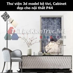 Thư viện 3d model Kệ tivi, Cabinet đẹp cho nội thất P44