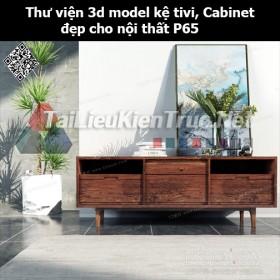 Thư viện 3d model Kệ tivi, Cabinet đẹp cho nội thất P65