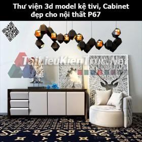 Thư viện 3d model Kệ tivi, Cabinet đẹp cho nội thất P67