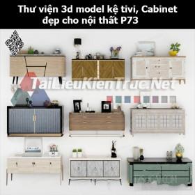 Thư viện 3d model Kệ tivi, Cabinet đẹp cho nội thất P73