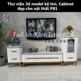 Thư viện 3d model Kệ tivi, Cabinet đẹp cho nội thất P81