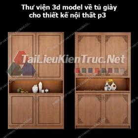 Thư viện 3d model về tủ giày cho thiết kế nội thất p3