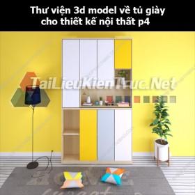 Thư viện 3d model về tủ giày cho thiết kế nội thất p4