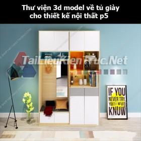 Thư viện 3d model về tủ giày cho thiết kế nội thất p5