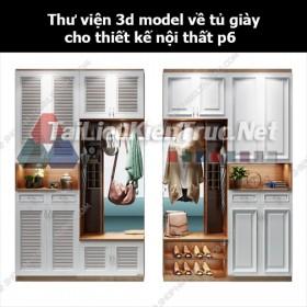 Thư viện 3d model về tủ giày cho thiết kế nội thất p6