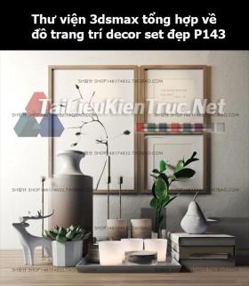 Thư viện 3dsMax tổng hợp về đồ trang trí decor set đẹp p142