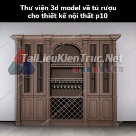 Thư viện 3d model về tủ rượu cho thiết kế nội thất p10