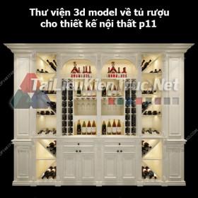 Thư viện 3d model về tủ rượu cho thiết kế nội thất p11