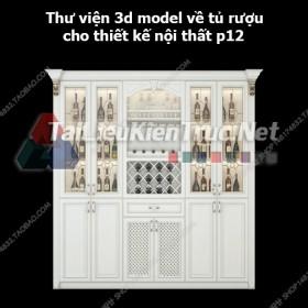 Thư viện 3d model về tủ rượu cho thiết kế nội thất p12