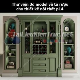 Thư viện 3d model về tủ rượu cho thiết kế nội thất p14