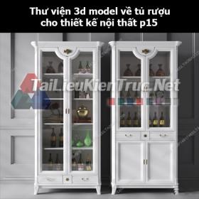 Thư viện 3d model về tủ rượu cho thiết kế nội thất p15