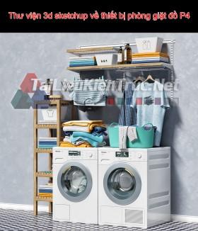 Thư viện 3d sketchup về thiết bị phòng giặt đồ P4