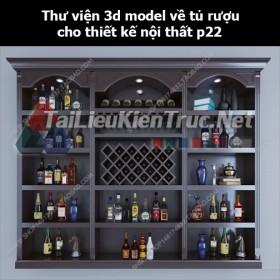 Thư viện 3d model về tủ rượu cho thiết kế nội thất p22