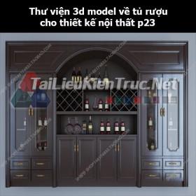 Thư viện 3d model về tủ rượu cho thiết kế nội thất p23