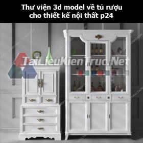 Thư viện 3d model về tủ rượu cho thiết kế nội thất p24