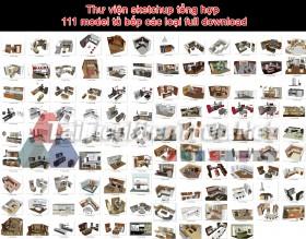 Thư viện sketchup tổng hợp 111 model tủ bếp các loại full download