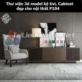 Thư viện 3d model Kệ tivi, Cabinet đẹp cho nội thất P104