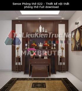 Sence Phòng thờ 022 - Thiết kế nội thất phòng thờ Full download