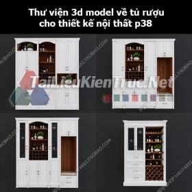 Thư viện 3d model về tủ rượu cho thiết kế nội thất p38