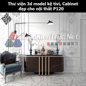 Thư viện 3d model Kệ tivi, Cabinet đẹp cho nội thất P120