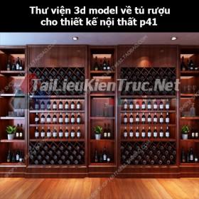 Thư viện 3d model về tủ rượu cho thiết kế nội thất p41