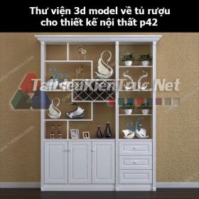 Thư viện 3d model về tủ rượu cho thiết kế nội thất p42