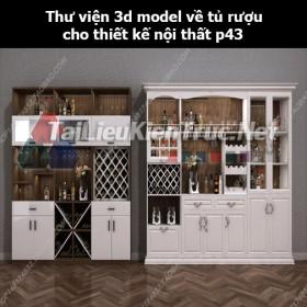 Thư viện 3d model về tủ rượu cho thiết kế nội thất p43