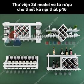 Thư viện 3d model về tủ rượu cho thiết kế nội thất p46
