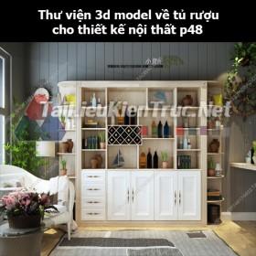 Thư viện 3d model về tủ rượu cho thiết kế nội thất p48