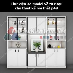 Thư viện 3d model về tủ rượu cho thiết kế nội thất p49