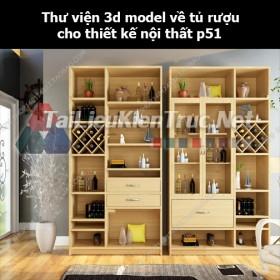 Thư viện 3d model về tủ rượu cho thiết kế nội thất p51