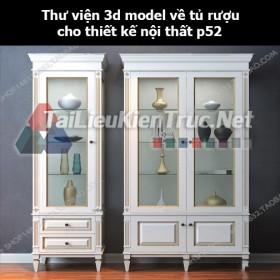Thư viện 3d model về tủ rượu cho thiết kế nội thất p52