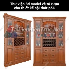 Thư viện 3d model về tủ rượu cho thiết kế nội thất p54
