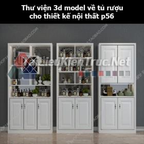 Thư viện 3d model về tủ rượu cho thiết kế nội thất p56